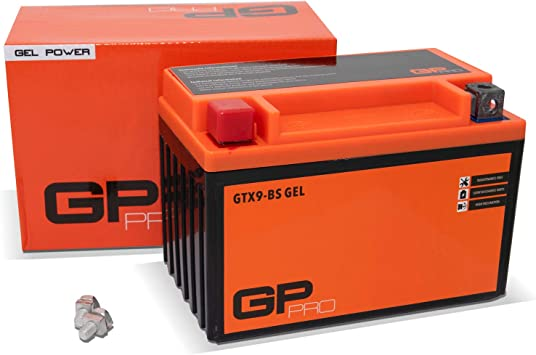Atom Advanced ATX9-BS Gel Motorcycle Battery 508 012 008 GTX9-BS Replaces YTX9-BS