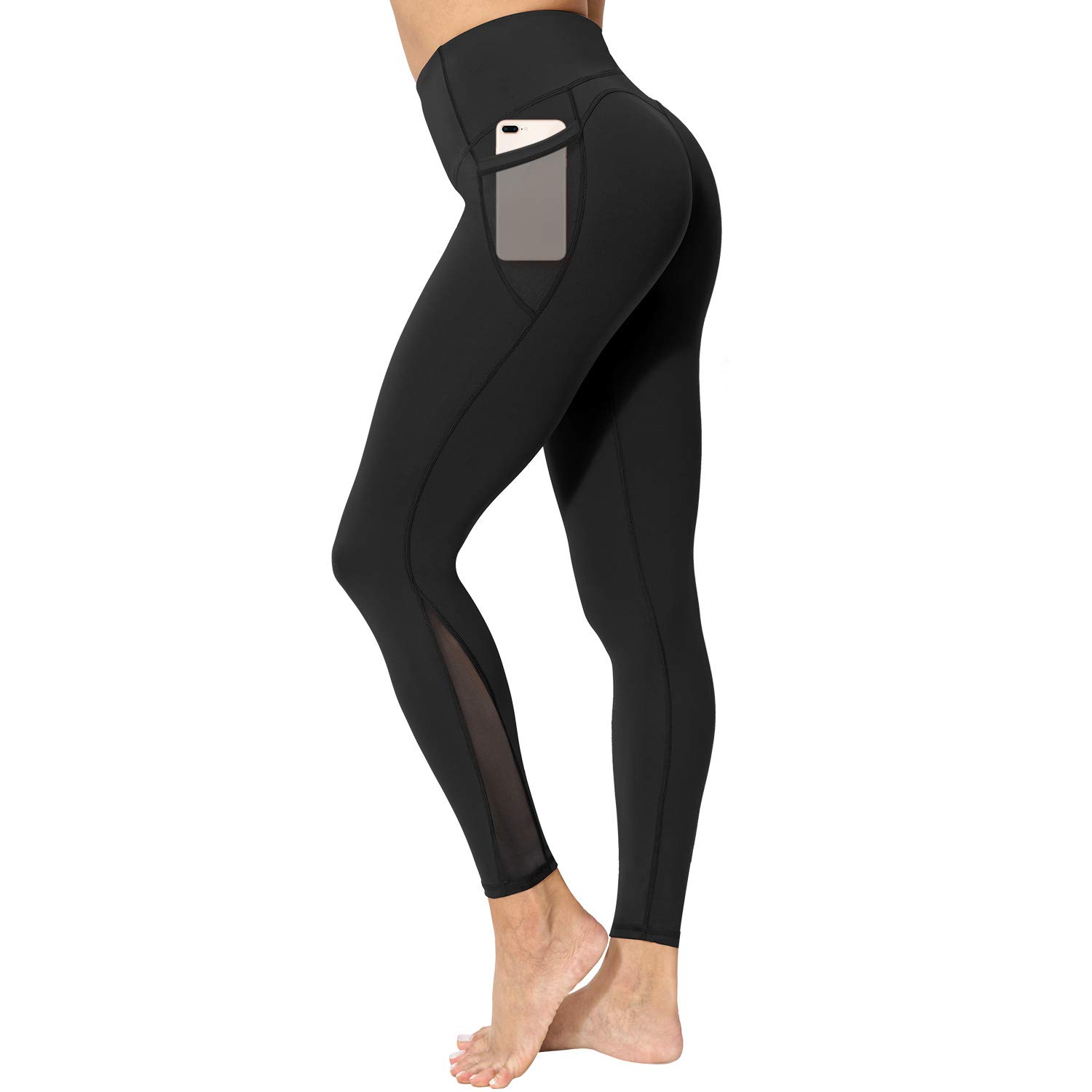 Eono by Womens Seamless Gym Leggings High Waist Yoga Pants Running Trousers Sports Workout Tights