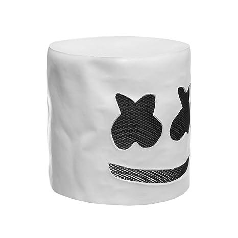 maschera marshmello dj  Halloween Party Night Club Latex Bianco Maschera per adulti DJ ...