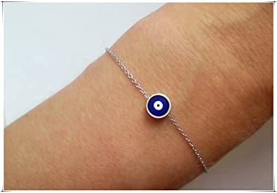 Amazon silver evil eye bracelet blue evil eye jewelry silver evil eye bracelet blue evil eye jewelry protection jewellery silver nazar bracelet mozeypictures Images