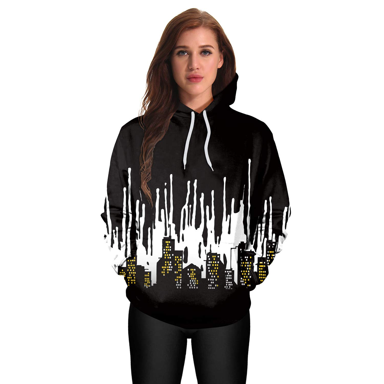 Mrsrui Mens Women Athletic Pullover Hoodies Sweatshirt Black by Mrsrui