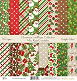 Pattern Paper Pack - Christmas Eve - Scrapbook Card Stock Single-Sided 12''x12'' Collection Includes 16 Sheets - by Miss Kate Cuttables