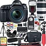 Canon EOS 5D Mark IV 30.4 MP Digital SLR Camera with EF 24-70mm f/4L IS USM & 100-400mm IS II USM Lens + 128GB SDXC Memory Card & Microphone Deluxe Filter Bundle