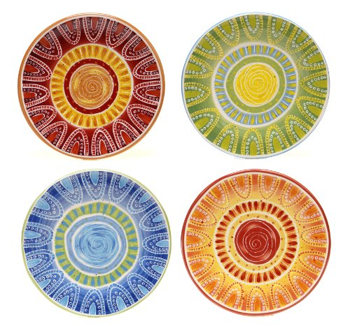 "Certified International San Marino Dessert Plates (Set of 4), 8.75"", Multicolor"
