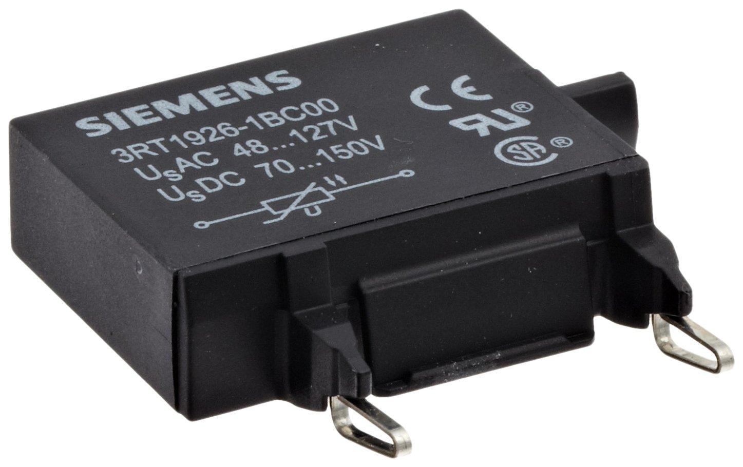 Siemens 3RT19 26-1BC00 Surge Suppressor, Varistor Design, S0 Size, 48-127VAC Rated Control Supply Voltage