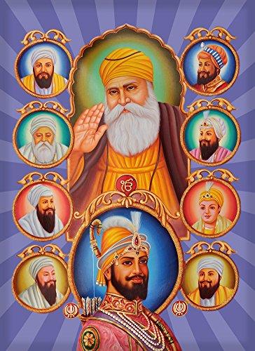Rectangle Refrigerator Magnet - 10 Gurus Sikhism Founders ()