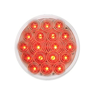 "Grand General 76453 Red 4"" Round Fleet 18-LED Stop/Turn/Tail Sealed Light with Clear Lens: Automotive"