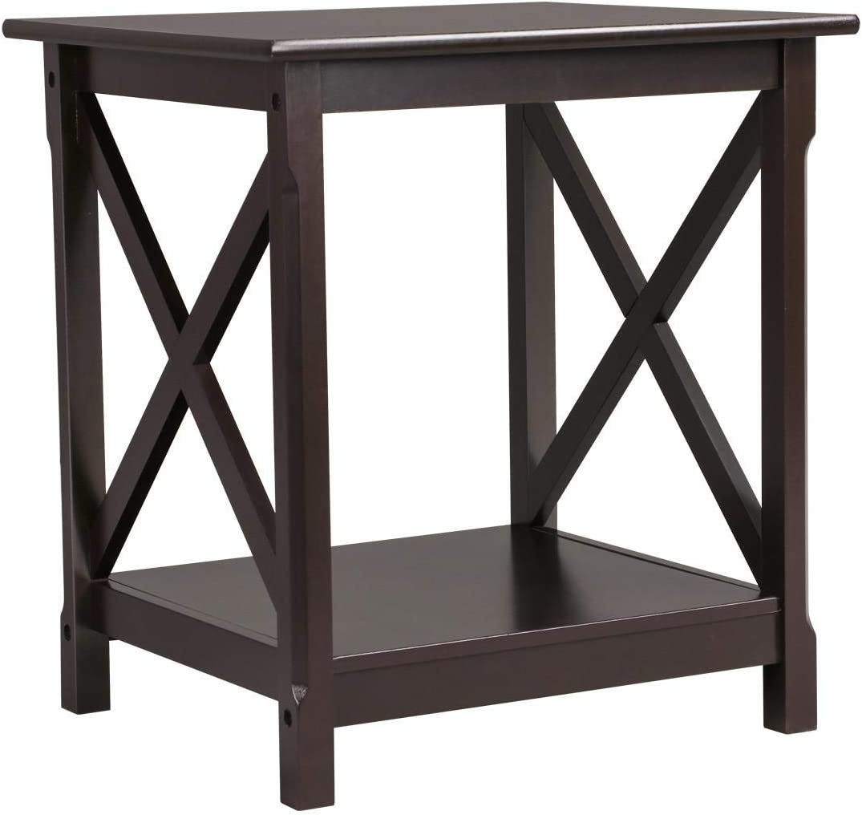 Yaheetech Modern Bedside Table Nightstand