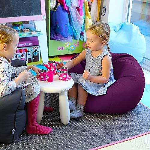RUComfy Small Kids Bean Bag Purple, Fabric
