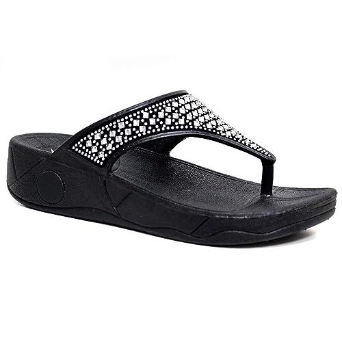 DunlopDunlop - Wedges mujer , color negro, talla 37 1/3