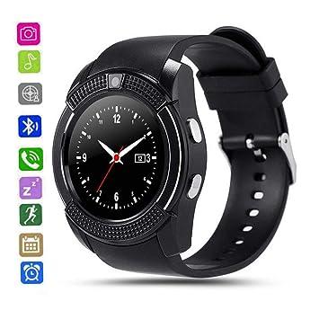 CatShin Smartwatch Android-Reloj Inteligente Mujer Hombre CS05 con Ranura para Tarjeta SIM/TF,Reloj Deportivo Pulsómetro Podómetro Monitor de Sueño ...