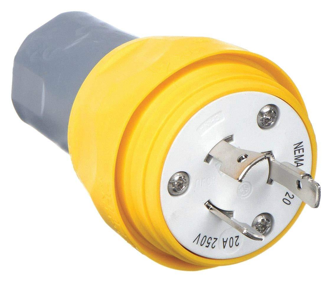 250Vac Wt Plug 20A Yellow L6-20P