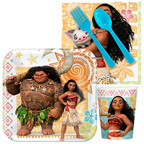 Disney Moana Party Supplies - Snack Party Pack for 8
