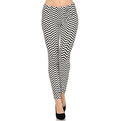 Womens Velour Full Length Leggings (Chevron, One Size)