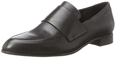 Womens Frances Leather Slip On Loafer Black Vagabond