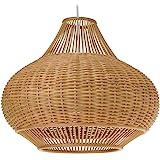 "KOUBOO 1050029 Wicker Pear Pendant Lamp, 18"" x 18"" x 15"", Natural"