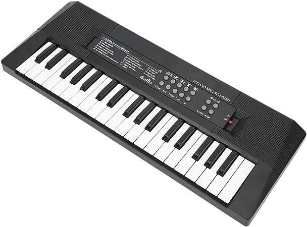 Teclado musical multifunción de 37 teclas, teclado de piano, juguetes para enseñar música, fuente de alimentación dual para niños