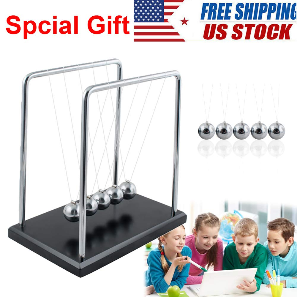 Fencia Large Size Newtons Cradle Balance Ball Orbital Desk Decoration for Living Room Drawing Room and Office from USA Stock