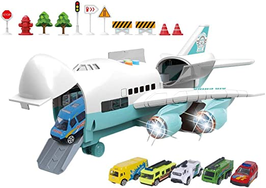 Kids Toys Mini Wooden Airplane Series Twelve-Piece Movable Aircraft Toy