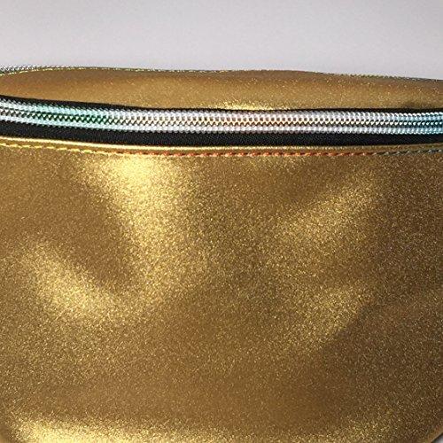 Flada - Bolso mochila  para mujer blanco estilo 1 Medium dorado