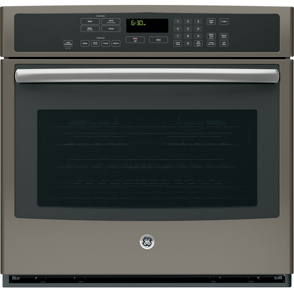 "GE PT7050EHES Profile 30"" Slate Electric Single Wall Oven - Convection"