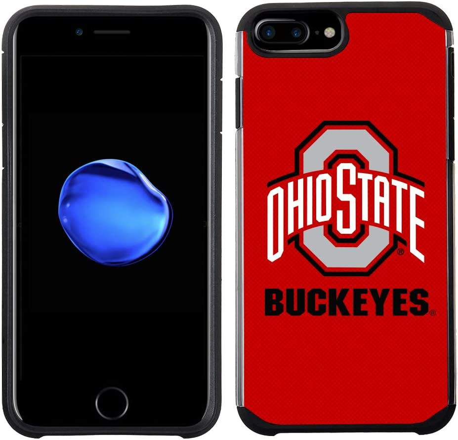 Prime Brands Group Textured Team Color Cell Phone Case for Apple iPhone 8 Plus/7 Plus/6S Plus/6 Plus - NCAA Licensed Ohio State University Buckeyes