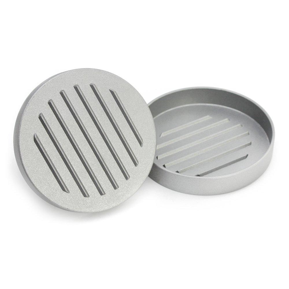 01 pieza COM-FOUR/® Prensa de hamburguesa fabricada en aluminio fundido a presi/ón aproximadamente 12 x 8,5 cm