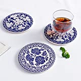 Drink Coasters with Thin Cork Bottom - Set of 6