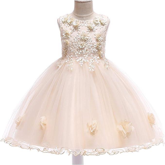 Vestido Fiesta Niña Sin Mangas Vestido de Novia Princesa Falda ...