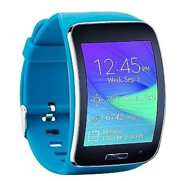 Fit-power Samsung Galaxy Gear S R750 Pulsera de repuesto de reloj inteligente inalámbrico con hebilla de seguridad, Pack of 4B: Amazon.es: Deportes y aire ...