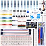 UNIROI Upgraded Electronic Fun Kit for Arduino with PNP S8550, Resistance Card, Power Supply Module, Breadboard, Free Tutorials (400 Items) UA001