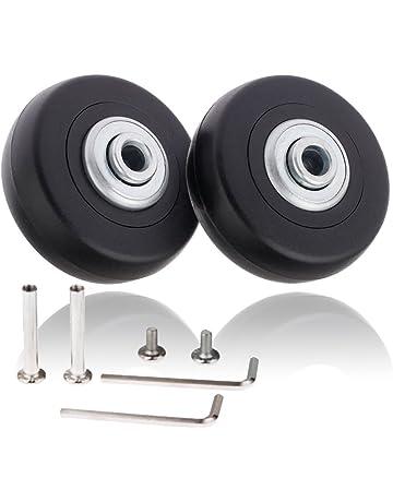 Par de ruedas de recambio de 50 x 18mm para maleta de equipaje con