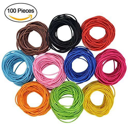 Hairdo Color Ring (Fashion & Lifestyle Boutique Baby Girls Hair Ties Ponytail Holders - Stretchy Elastic Hair Ropes Rubber Bands Styling Accessories for Toddlers Kids Teens 10 Colors x 10)