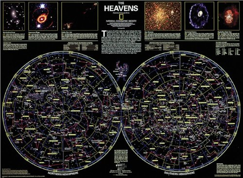 The Heavens Map Type: Tubed by National Geographic Maps