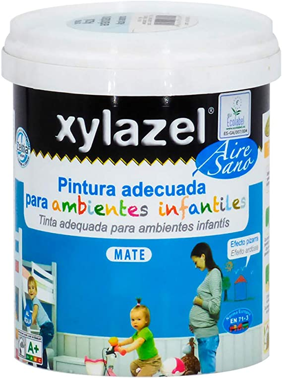 Xylazel M289648 - Pintura airesano efecto pizarra 750ml-blanco: Amazon.es: Bricolaje y herramientas