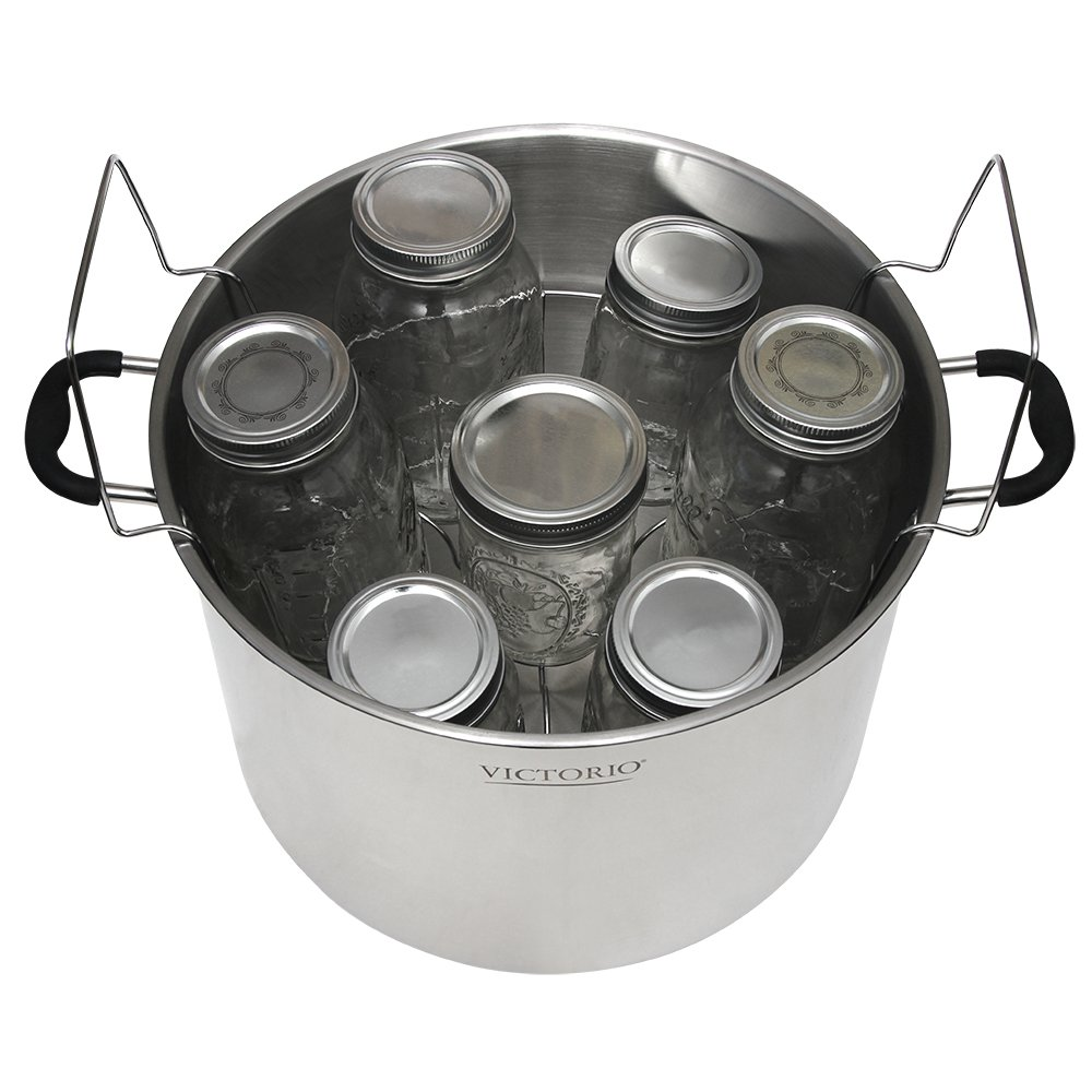Stainless Steel Canning Rack, with Jar Dividers, by VICTORIO VKP1057 by Victorio (Image #6)