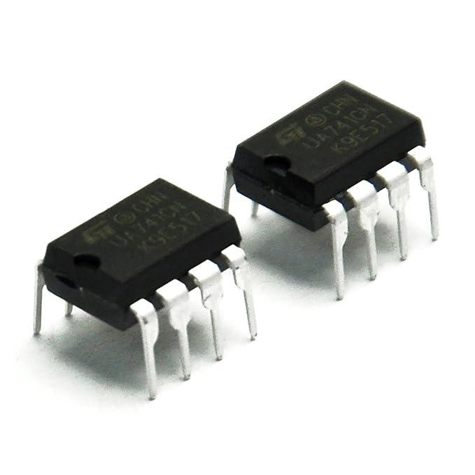 Gikfun UA741CN DIP-8 St amplificadores operacionales Op Amp IC para Arduino (paquete de 10 piezas) ae1252: Amazon.es: Electrónica
