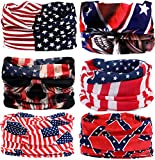 us helmet liner - KALILY 6PCS/9PCS Headband Bandana - Versatile Sports & Casual Headwear –Multifunctional Seamless Neck Gaiter, Headwrap, Balaclava, Helmet Liner, Face Mask for Camping, Running, Cycling, Fishing etc