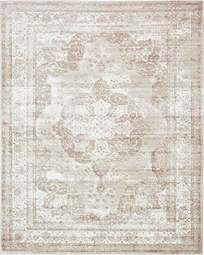 Unique Loom 3134075 Sofia Collection Traditional Vintage Beige Area Rug, 8' x 10' Rectangle, (Creme Rug)