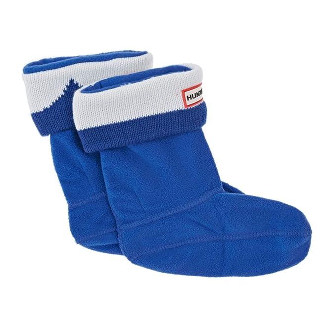 Hunter Niños Botas de bigote calcetines - Bright Cobalt/fibra blanco azul multicolor 19-22: Amazon.es: Ropa y accesorios