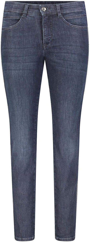 MAC Jeans Damen Hose Angela blau-dunkel D833