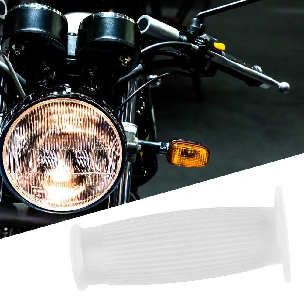 Akozon Empu/ñaduras de Manillar TPU Antideslizante Raya Retro Universal para 7//8 22mm Motocicleta Manillares Gris pardo