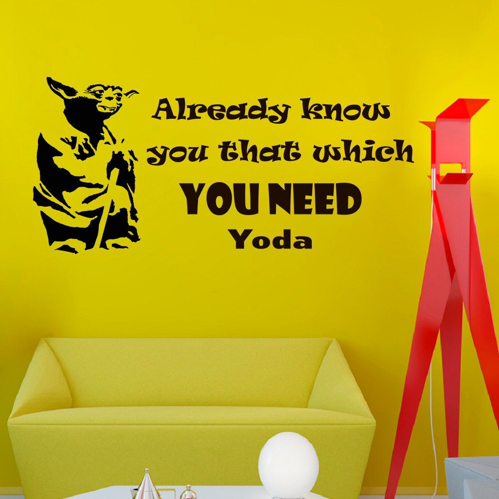 Wall Decals Star Wars Quote Already Know You That Which Yoda Quotes