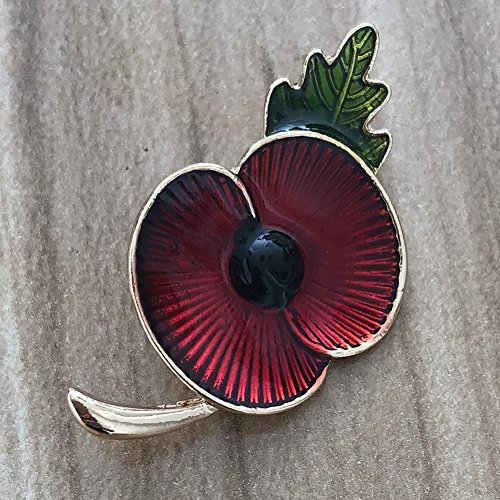 Red poppy flower pin lapel badge banquet enamel remembrance brooch product description mightylinksfo