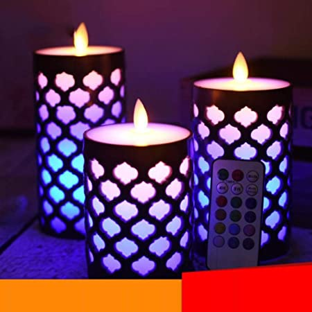 Qzny Velas LED, Velas de Humor, Luz de decoración, Luz de té ...