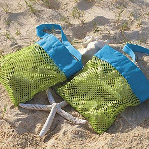 Gersun Beach mesh Tote set, beach Toys/Shell Storage mesh bag Stay away from Sand per la spiaggia, piscina, barca per giocattoli bambini in azienda