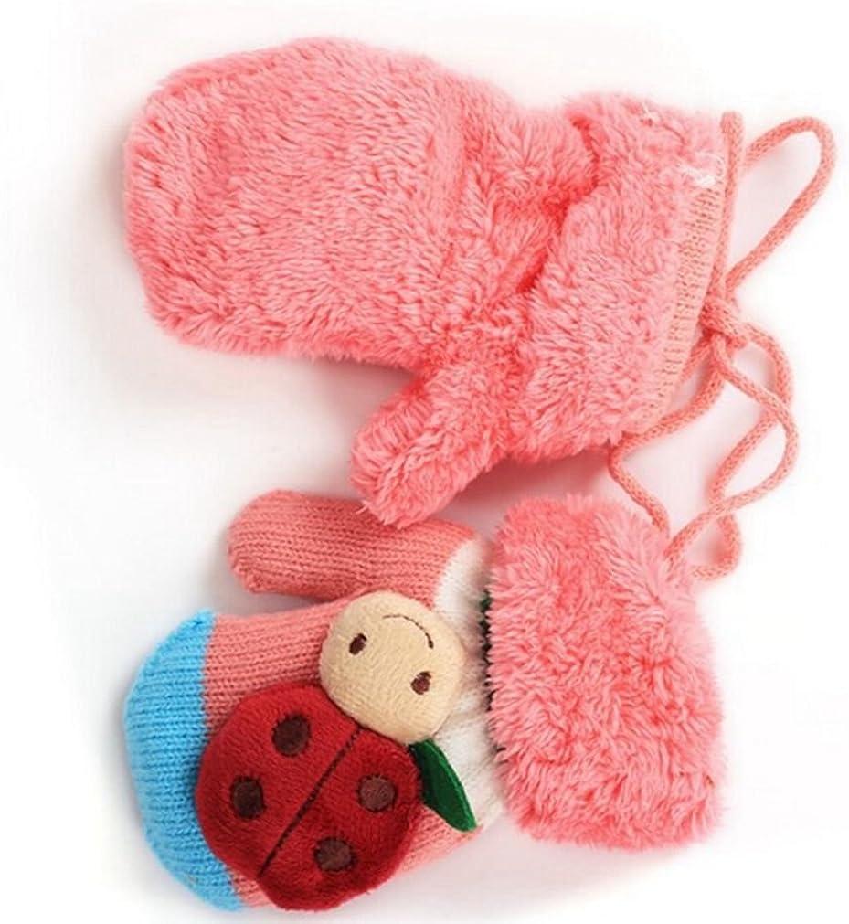 SAMGU Inverno del ragazzo della neonata bambini Ladybug guanti caldi guanti per i bambini