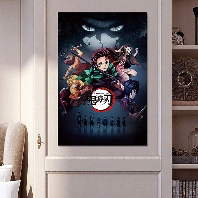 Kimetsu No Yaiba Animale Carattere Poster da Appendere Pittura murale Arte Tessuto Poster. Templom SIX Demon Slayer