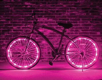 BXT - Luces led para ruedas de bicicleta (solo para 1 rueda), rosa: Amazon.es: Deportes y aire libre