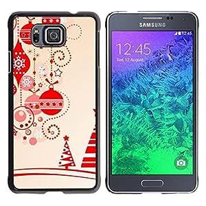 Be Good Phone Accessory // Dura Cáscara cubierta Protectora Caso Carcasa Funda de Protección para Samsung GALAXY ALPHA G850 // Brown Christmas Decorations Tree